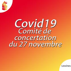 Comité de concertation du 27 novembre: communiqué de presse
