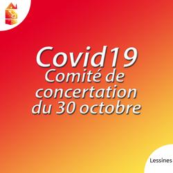 COVID-19 : Comité de concertation sur le durcissement du confinement
