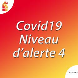 Niveau d'alerte 4 de la COVID-19 : des règles plus strictes à partir du lundi 19 octobre