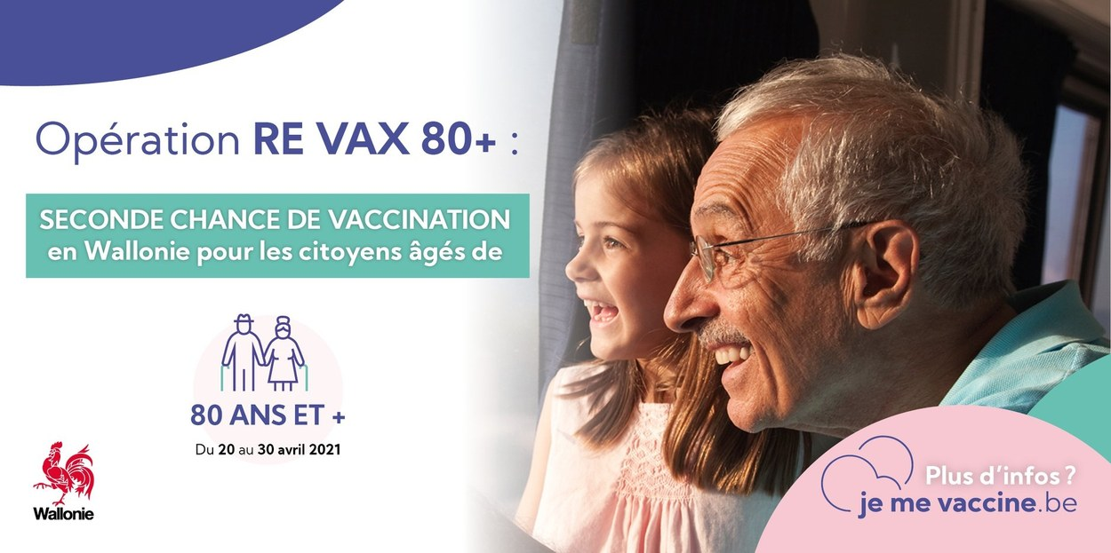 Opération « Re Vax 80+ » en Wallonie