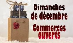 Dimanches de décembre, ouverture des commerces: liste