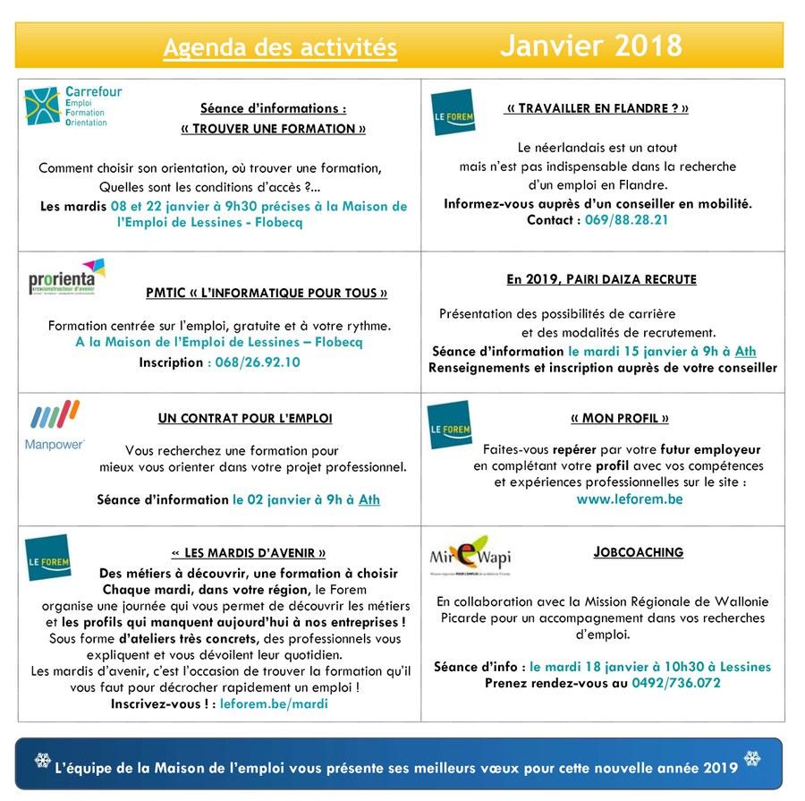 Agenda de janvier MdE