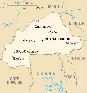 Carte Bobo-Dioulasso