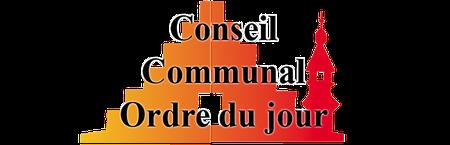 Conseil communal du 27 août: ordre du jour